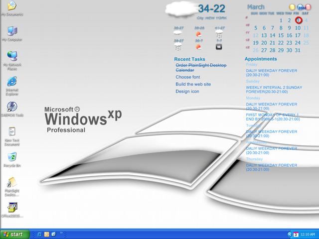 screenshots for plainsight desktop calendar