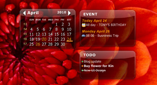 screen shot for desktop icalendar lite