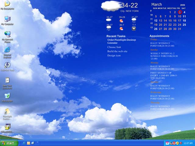 PlainSight Desktop Calendar 2.3.9 full